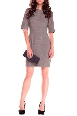 Платье Laura Bettini. Цвет: бежевый, хаки