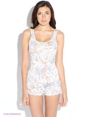 Пижама Oodji. Цвет: белый, персиковый