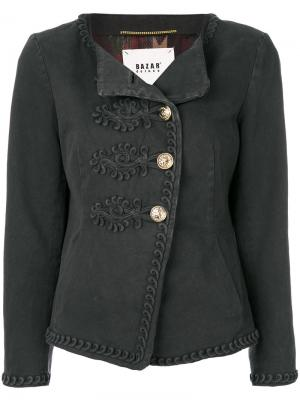 Приталенная куртка Bazar Deluxe. Цвет: серый