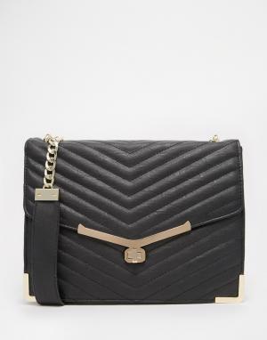 Juno Accessories Стеганая сумка. Цвет: черный