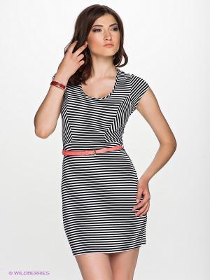 Платье GILLI. Цвет: черный, белый