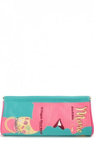 Клатч More Is Magazine с вышивкой Charlotte Olympia. Цвет: разноцветный