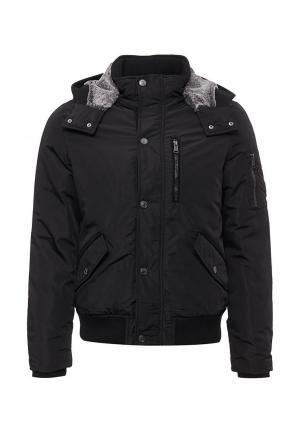 Куртка утепленная Guess Jeans. Цвет: черный