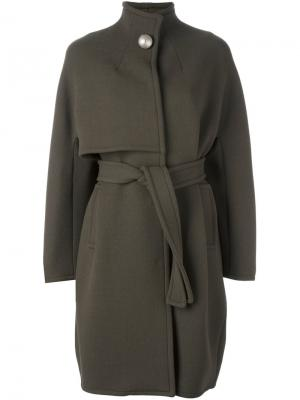 Пальто с воротником-воронкой Gianluca Capannolo. Цвет: зелёный
