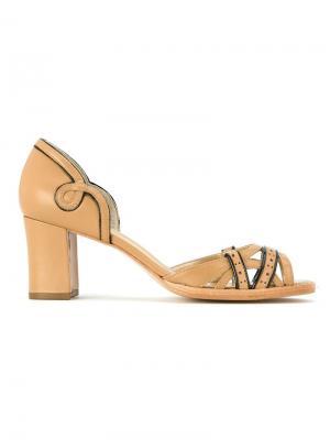 Leather sandals Serpui. Цвет: чёрный