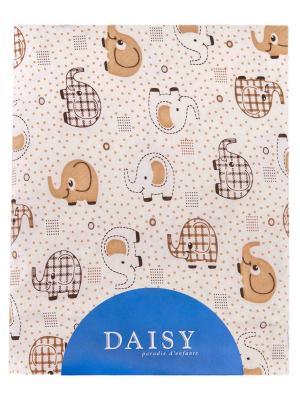 Пеленка Слоники DAISY. Цвет: светло-коричневый, бежевый, светло-бежевый