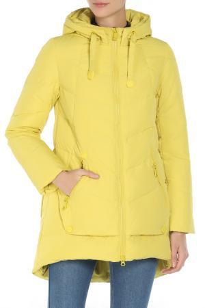 Полуприлегающее пальто на подкладке SNOWIMAGE. Цвет: 2583 желтый