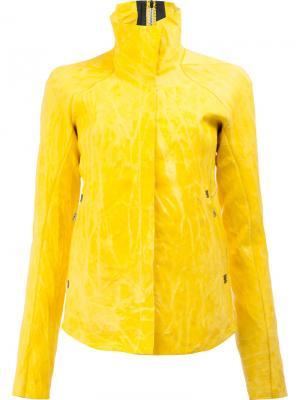 Куртка с мятым эффектом Isaac Sellam Experience. Цвет: жёлтый и оранжевый