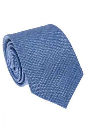 Галстук ярко-голубого оттенка Gucci. Цвет: голубой