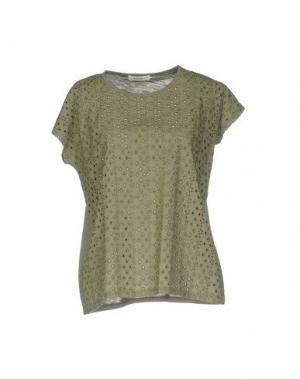 Блузка BELLA JONES. Цвет: зеленый-милитари