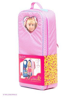 Переноска для куклы OG Dolls. Цвет: розовый, синий, сиреневый