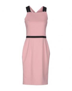 Платье до колена BOURNE. Цвет: розовый