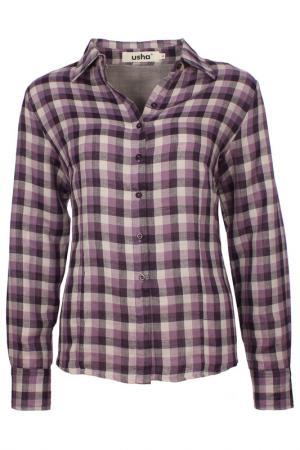Рубашка Usha. Цвет: фиолетовый