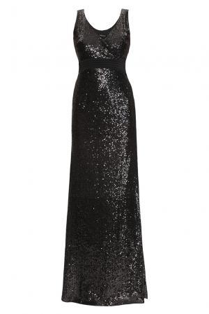 Платье из вискозы в пайетках 167839 Paola Morena. Цвет: черный