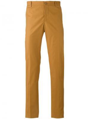 Классические брюки чинос Etro. Цвет: жёлтый и оранжевый