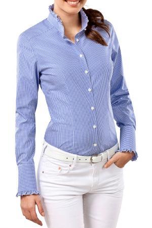 Рубашка Vincenzo Boretti. Цвет: синий