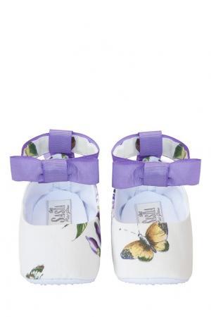 Хлопковый комплект «Душистый горошек» SASHA Petit Gâteau. Цвет: белый, фиолетовый, зеленый
