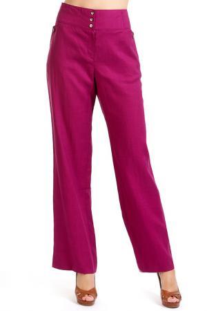 Брюки Isaco & Kawa. Цвет: розовый
