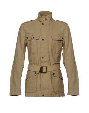 Легкое пальто MATCHLESS. Цвет: песочный