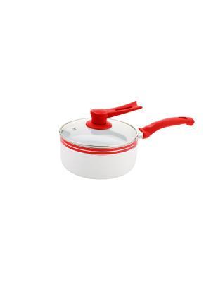 Ковш 18 см, внутр.покрытие бел.керамика Elff Ceramics. Цвет: красный, белый