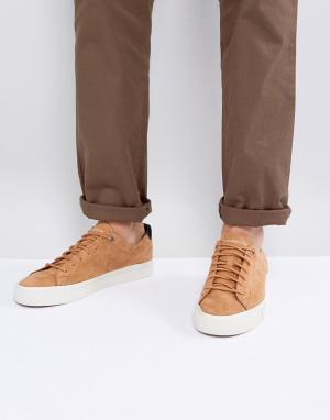 Tommy Hilfiger Светло-коричневые замшевые кроссовки Dino. Цвет: рыжий