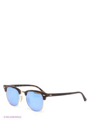 Очки солнцезащитные CLUBMASTER Ray Ban. Цвет: темно-коричневый, синий