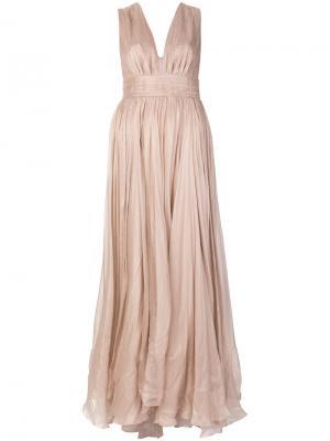 Платье без рукавов с глубоким вырезом Maria Lucia Hohan. Цвет: розовый и фиолетовый
