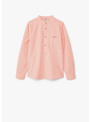 Блузка Mango kids. Цвет: персиковый