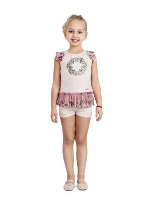 Шорты, Ludmila Labkova Kids. Цвет: кремовый, розовый