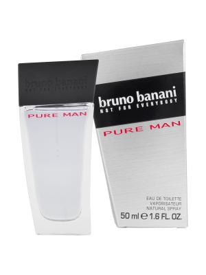Туалетная вода Bruno Banani Pure Man 50 мл (новая упаковка). Цвет: прозрачный