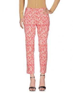 Повседневные брюки BRIAN DALES. Цвет: красный