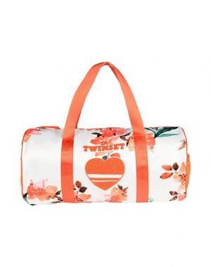 Дорожная сумка TWIN-SET Simona Barbieri. Цвет: слоновая кость