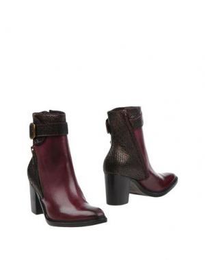 Полусапоги и высокие ботинки DONNA PIÙ. Цвет: красно-коричневый