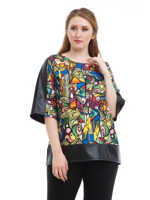 Блузка Lady Di. Цвет: черный, желтый, синий