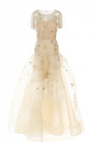 Вечернее платье Oscar de la Renta. Цвет: золотой