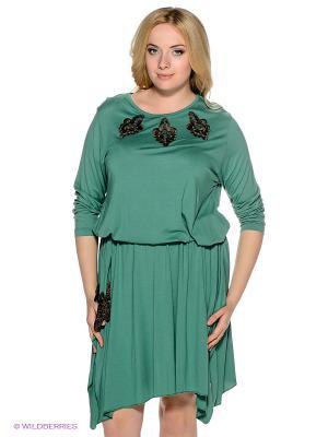 Платье MARY MEA. Цвет: зеленый