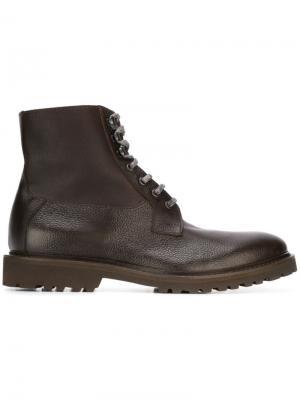 Ботинки на шнуровке Eleventy. Цвет: коричневый