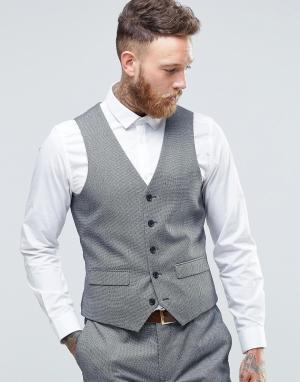 Harry Brown Приталенный жилет. Цвет: серый