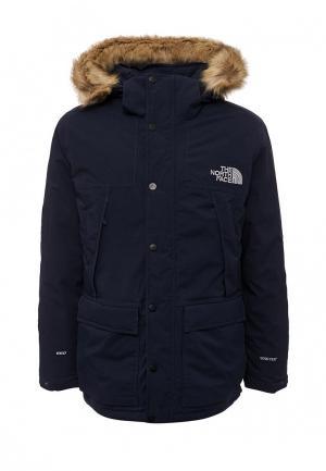 Куртка утепленная The North Face. Цвет: синий