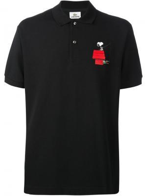 Поло Snoopy Peanuts X Lacoste. Цвет: чёрный