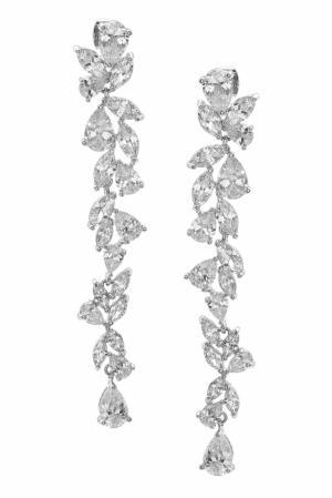 Серьги с кристаллами Herald Percy. Цвет: серебряный