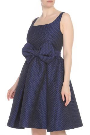 Платье с большим бантом CAVO. Цвет: темно-фиолетовый
