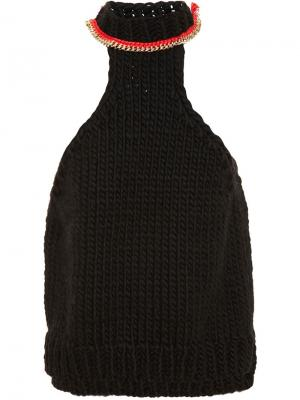 Топ с контрастной деталью Wool And The Gang. Цвет: чёрный