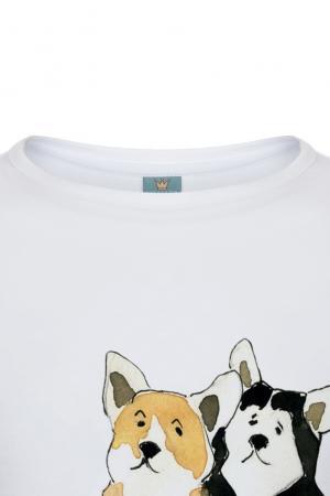 Хлопковая футболка LISA&LEO. Цвет: белый