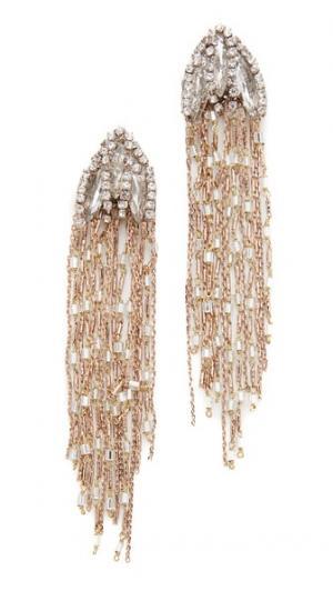 Серьги Iris Theia Jewelry. Цвет: состаренное золото/прозрачный