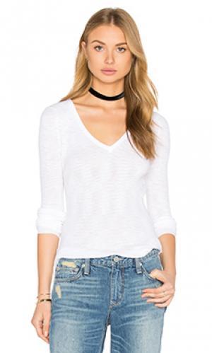 Свитер с v-образной горловиной linde 360 Sweater. Цвет: белый