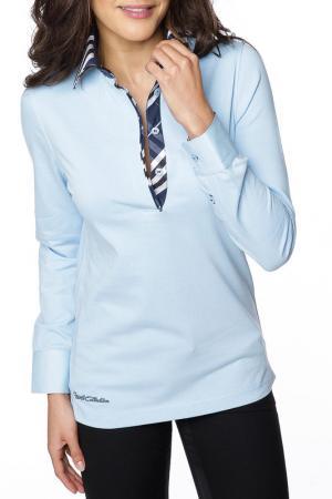 Рубашка-поло GAZOIL. Цвет: синий