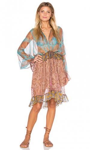 Платье миди realm Zimmermann. Цвет: синий