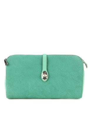 Клатч Gilda Tonelli. Цвет: зеленый, серо-зеленый