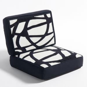 Подушка из хлопка для кресла Dilma AM.PM.. Цвет: экрю/черный